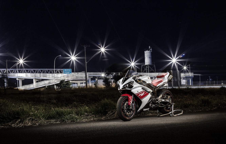 Photo wallpaper white, yamaha, bike, yzf-1