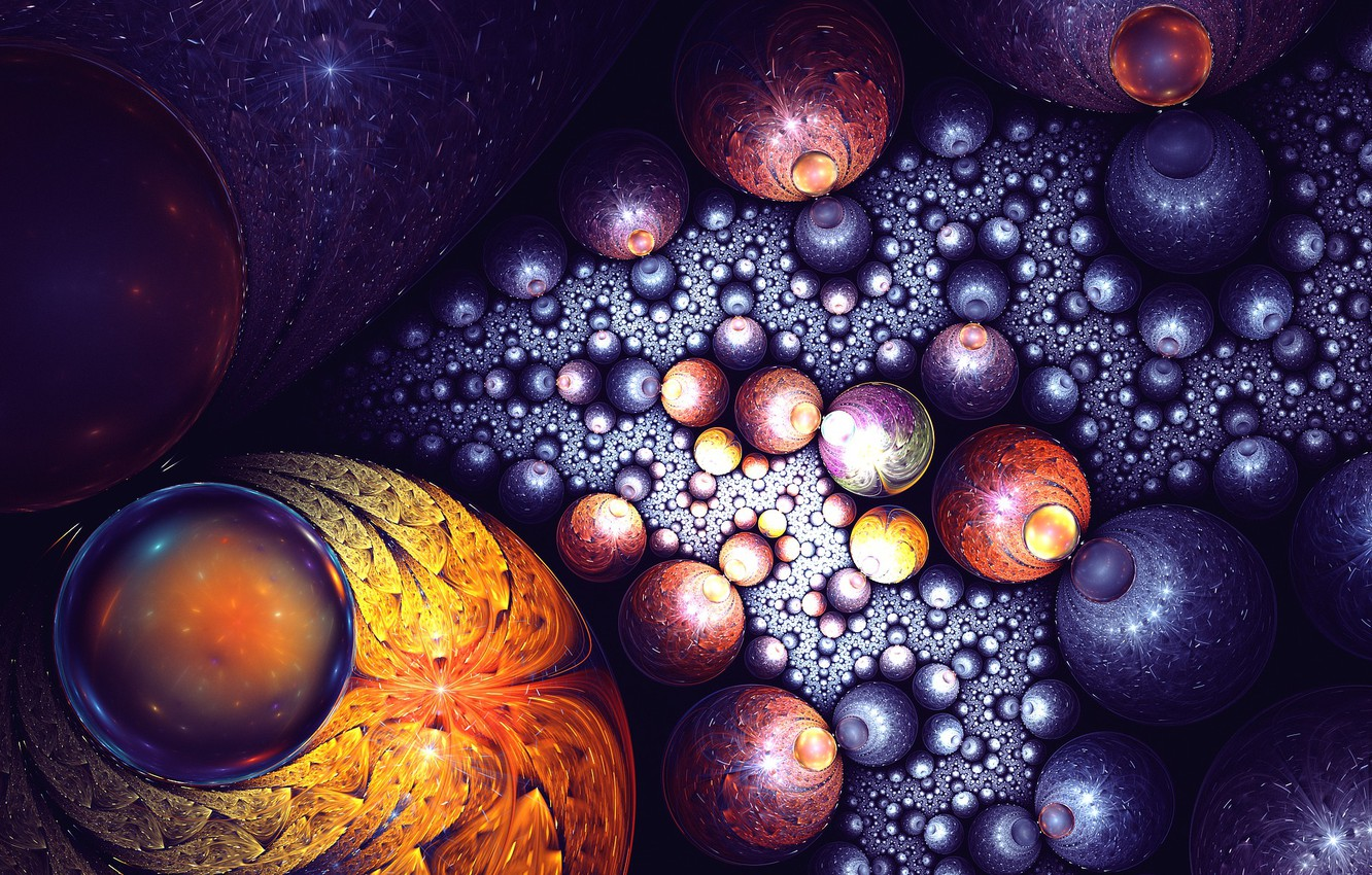 Photo wallpaper art, fractal, galaxy