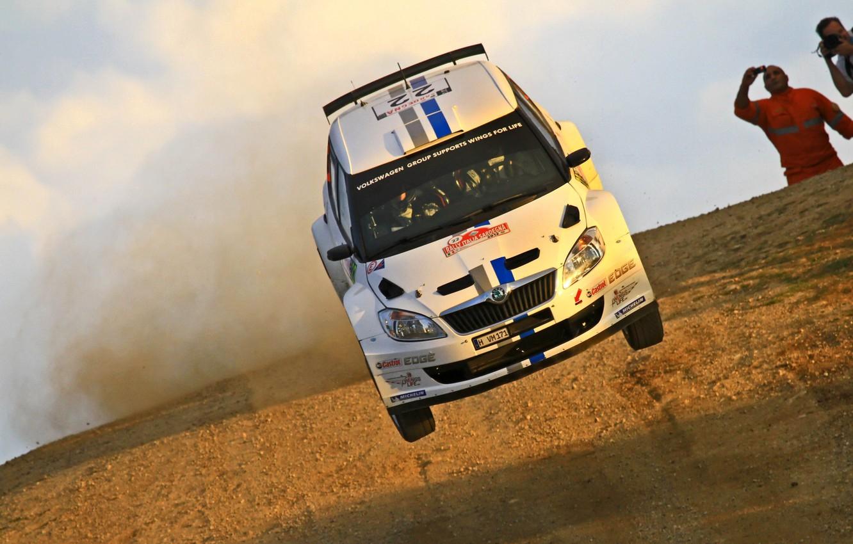 Photo wallpaper jump, rally, WRC, Skoda, s 2000, Skoda Fabia