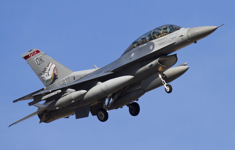 "Photo wallpaper fighter, flight, Fighting Falcon, ""Fighting Falcon"", F-16D"
