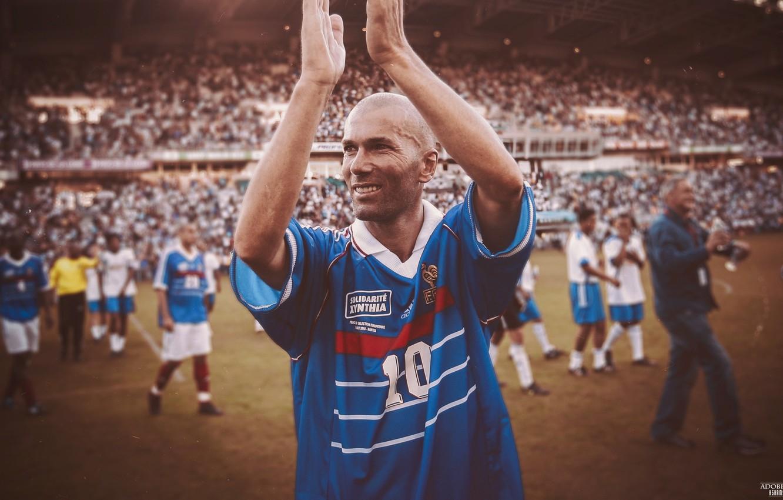 Photo wallpaper France, Real Madrid, Zidane, Zinedine