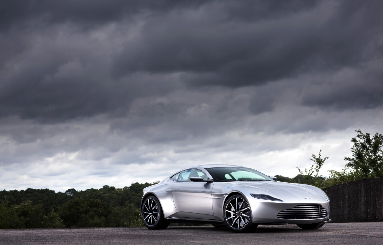 Photo wallpaper clouds, Aston Martin, 2015, DB10