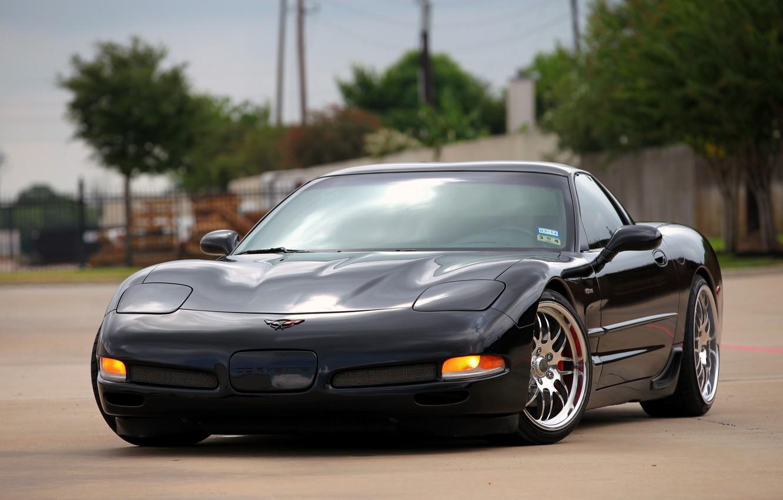 Photo wallpaper Z06, Corvette, Chevrolet, Black