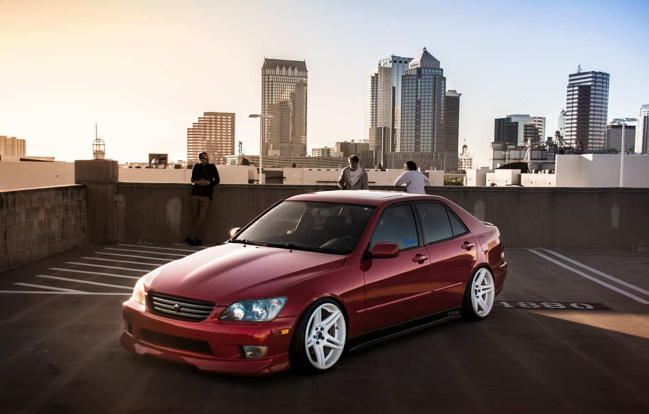 Photo wallpaper turbo, lexus, red, japan, toyota, jdm, tuning, low, height, is200, stance, is300, roof, rs200, XE10, …