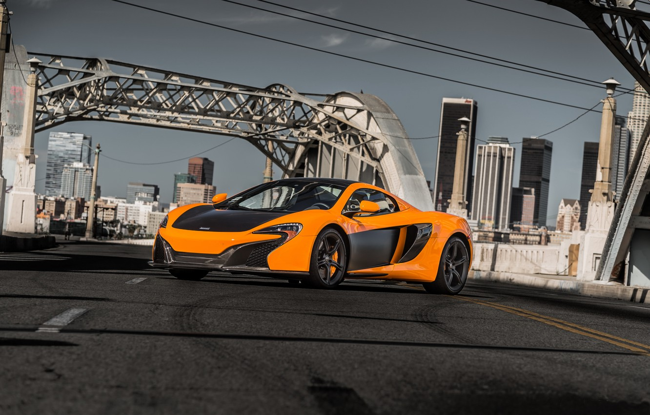 Photo wallpaper bridge, mclaren, 650S