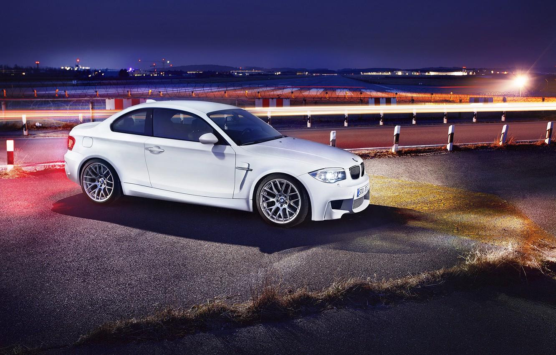 Photo wallpaper BMW, the evening, front, autowalls, BMW 1M