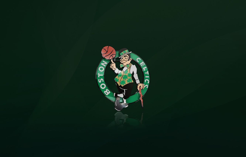 Photo wallpaper Green, Basketball, Background, Logo, Boston, NBA, Boston Celtics
