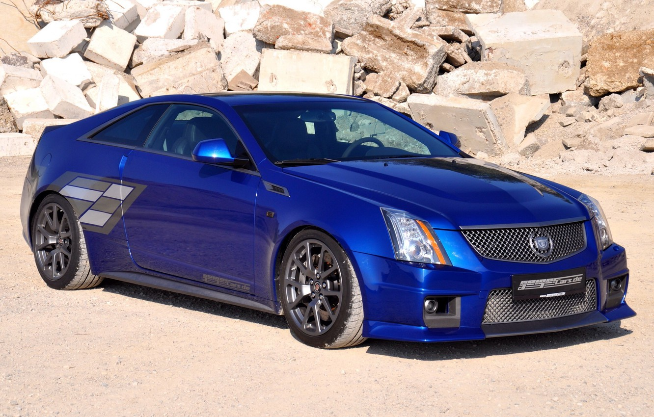 Photo wallpaper 2011, tuning, coupe, cadillac, Geiger, blue brute, cts-V