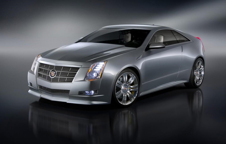 Photo wallpaper Cadillac, silver, CTS