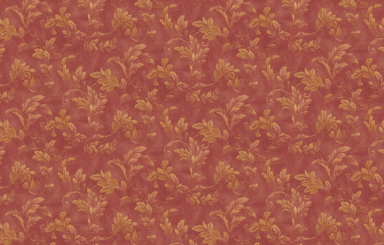 Photo wallpaper leaves, branches, red, background, Wallpaper, texture, ornament, vintage, floral patterns