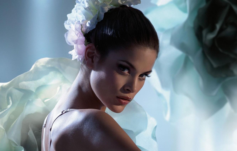Photo wallpaper flower, model, Jenna Pietersen
