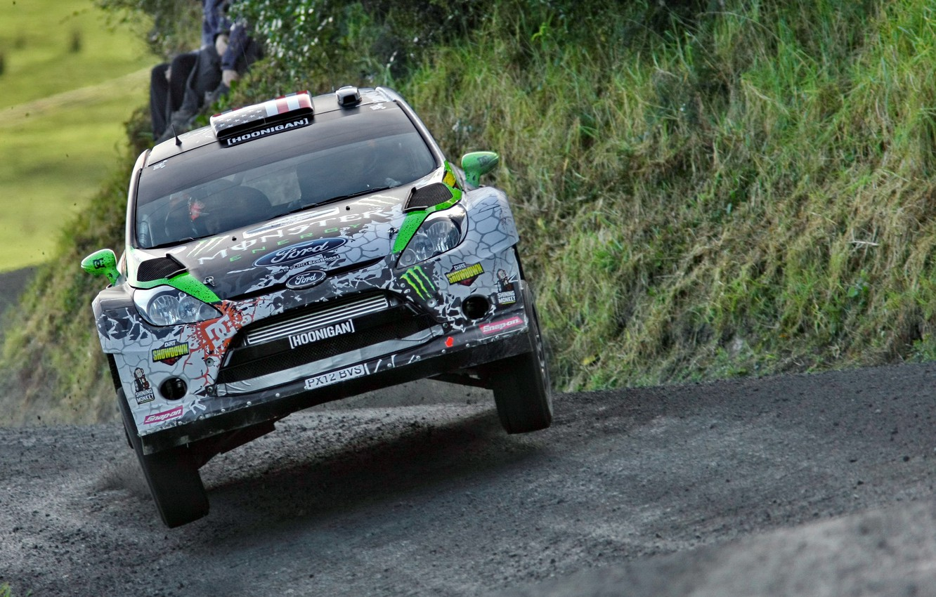 Photo wallpaper Ford, Sport, Ford, The hood, WRC, Ken Block, Rally, Rally, Fiesta, Fiesta, Competition