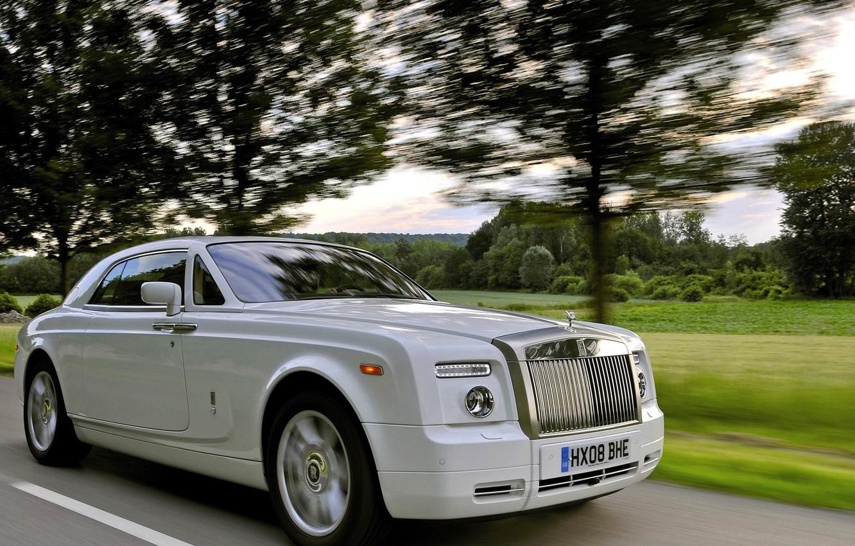 Photo wallpaper lights, Rolls-Royce, grille, emblem, limousine, rolls Royce, soup
