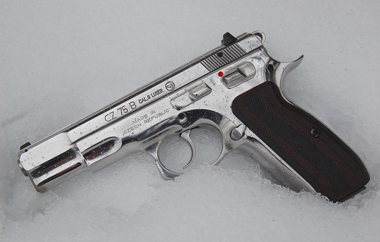 Photo wallpaper weapons, self-loading pistol, CZ-75B