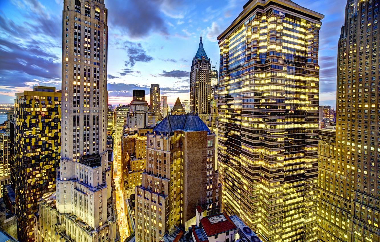 Wallpaper light, sunset, the city, lights, Windows ...