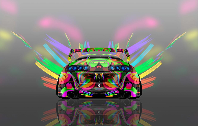 Photo wallpaper Auto, Design, Neon, Machine, Bright, Style, Grey, Wallpaper, Background, Toyota, Art, Art, Abstract, Photoshop, Photoshop, …