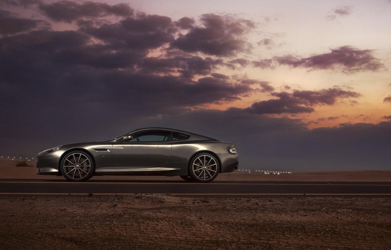 Photo wallpaper Aston Martin, DB9, Dubai, Side, Supercar