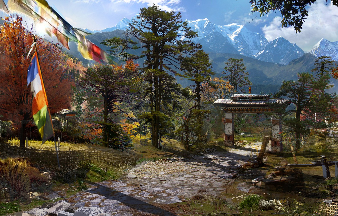 Wallpaper Mountains Game Art Ubisoft Game Far Cry 4