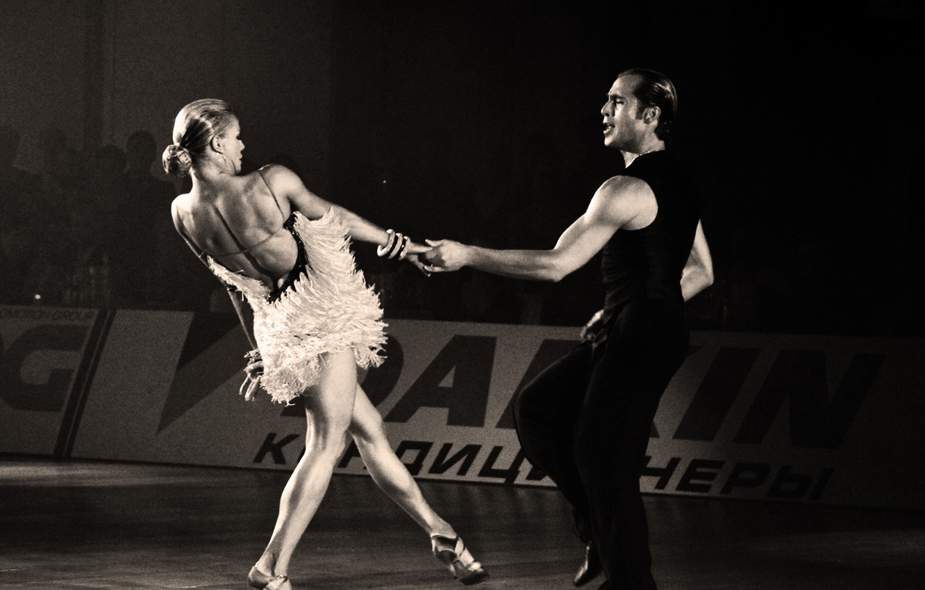 Wallpaper dance, Riccardo and Yulia, ballroom dance ...