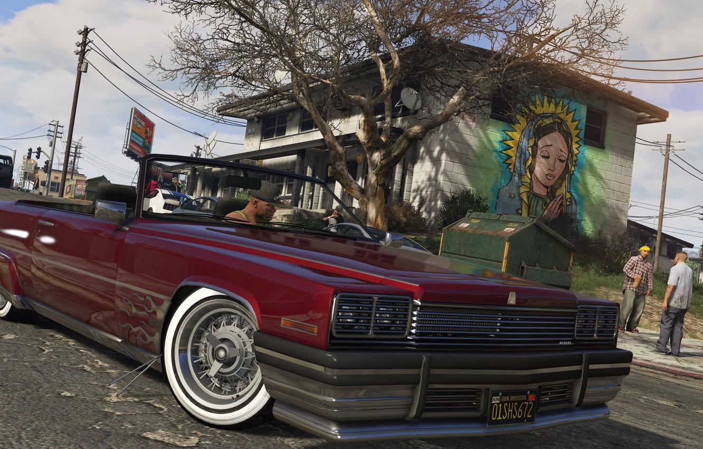 Photo wallpaper car, City, Race, Cars, Grand Theft Auto V, gta 5, The Saints