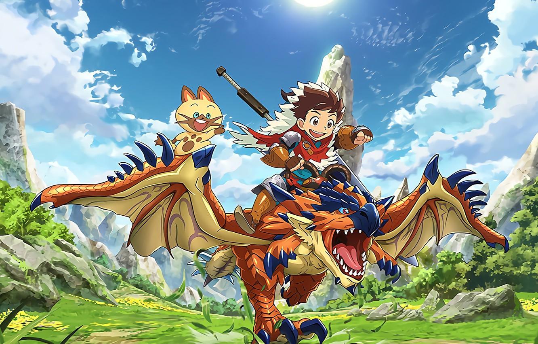 Wallpaper Sword Game Happy Armor Sky Nothing Anime Cloud