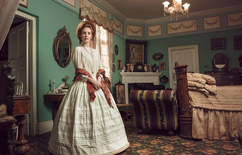 Photo wallpaper girl, room, vintage, Victorian Journey