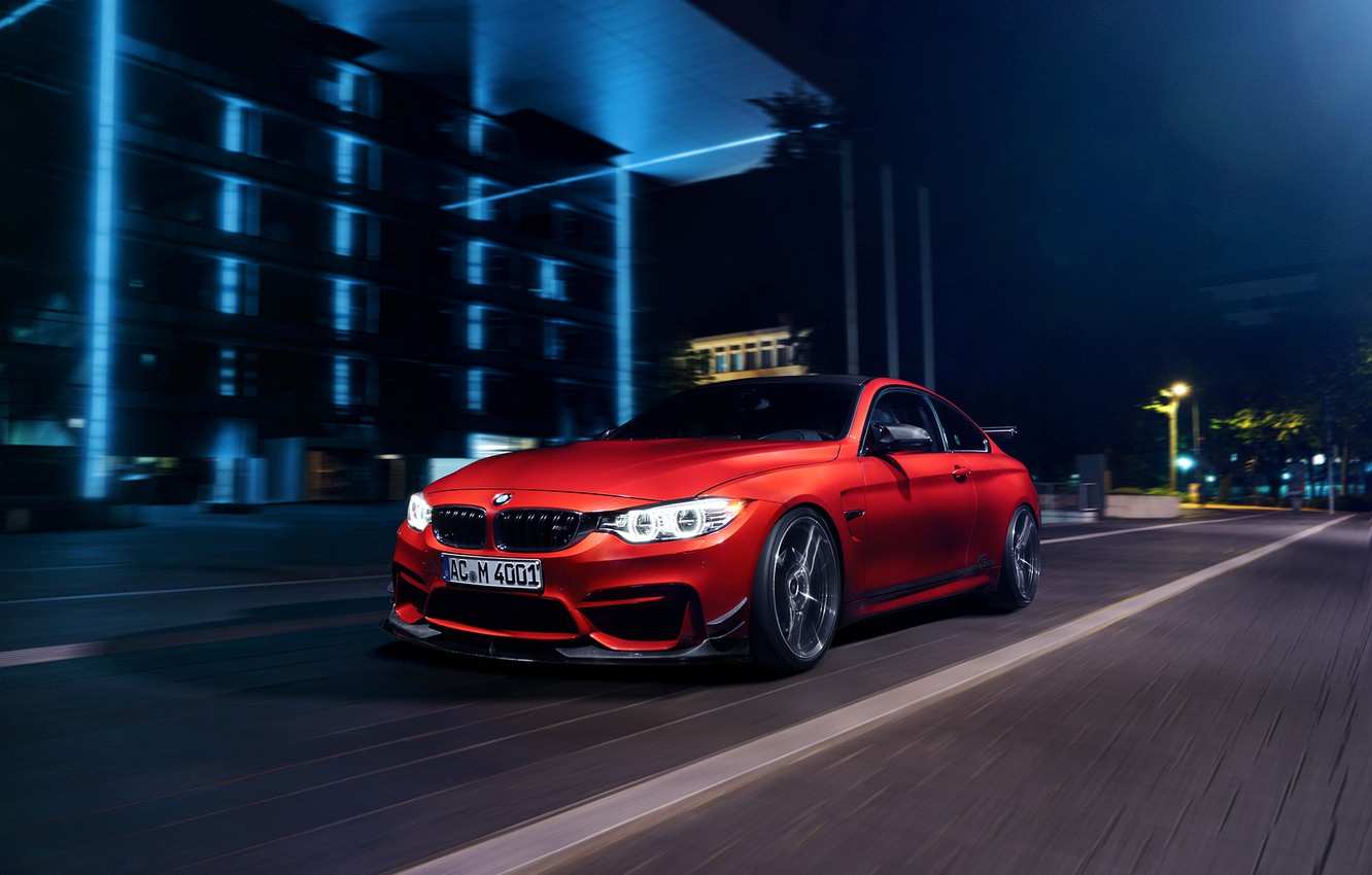 Photo wallpaper BMW, red, Coupe, F82, by AC-Schnitzer, Export Version