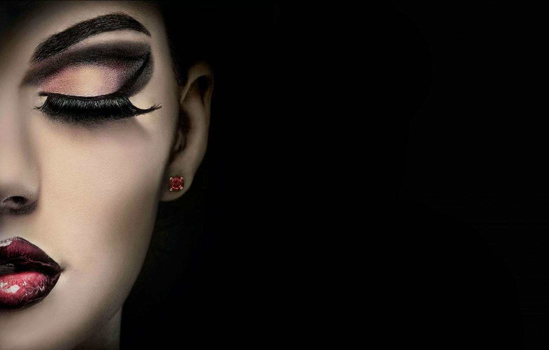 Wallpaper girl, face, eyelashes, makeup