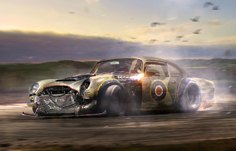 Wallpaper Aston Martin Drift Car Tuning Future Db5 By Khyzyl