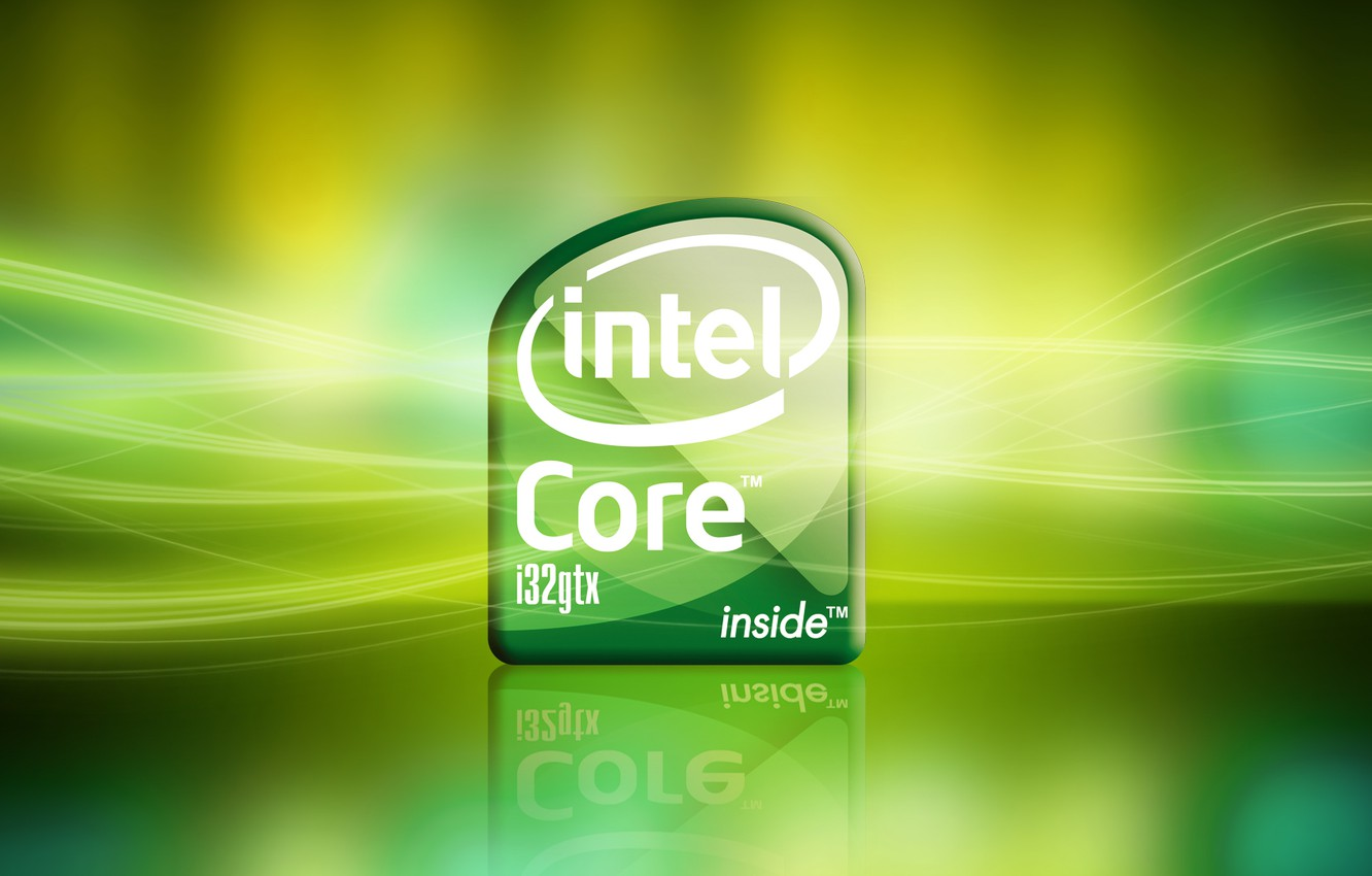 Photo wallpaper light, green, background, core, intel, processor, i32gtx, Intel