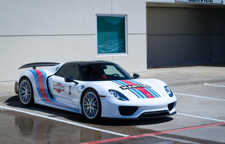 Photo wallpaper Porsche, Spyder, 918, Martini
