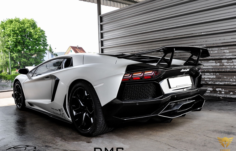 Photo wallpaper auto, Lamborghini, supercar, tuning, back, LP700-4, Aventador, DMC Luxury