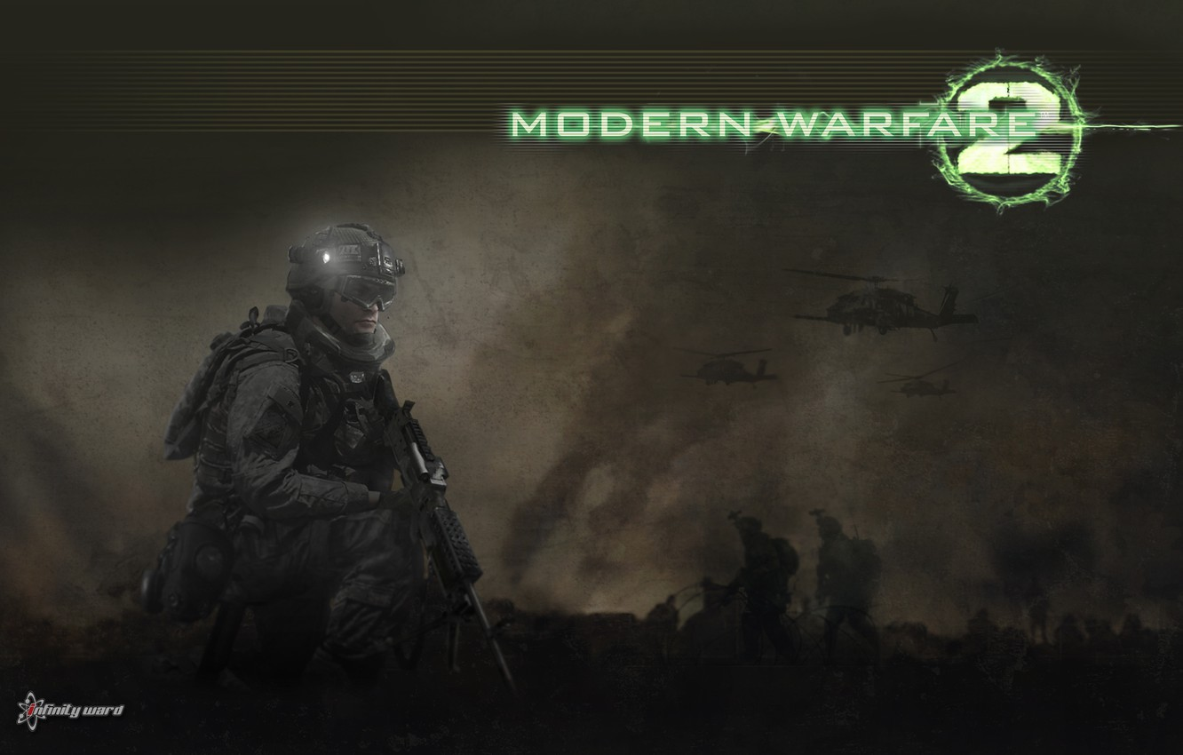 Wallpaper fighters, helicopters, Call of duty, Modern