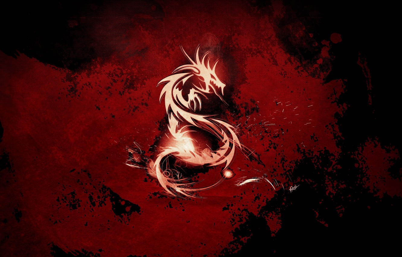 Photo wallpaper red, blood, dragon