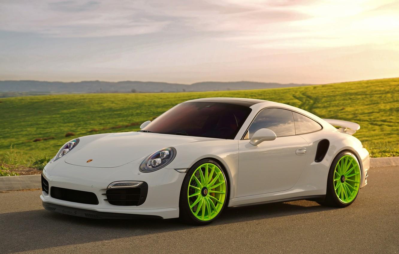 Photo wallpaper Porsche, Turbo, 991, HRE, P103