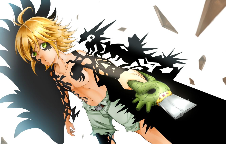Wallpaper Anime Guy Art Sword Meliodas Nanatsu No Taizai