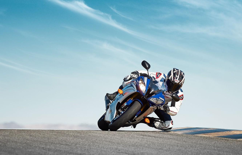Photo wallpaper Yamaha, bike, motorbike, 2015, YZF R6