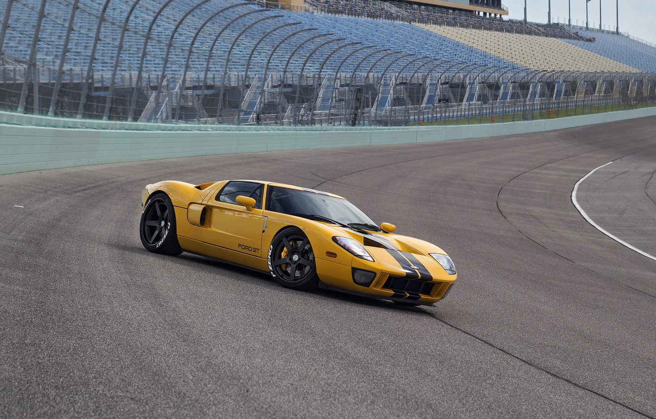 Photo wallpaper Ford GT, track, HRE, RS105