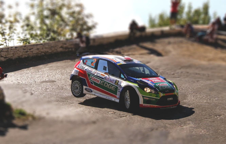 Photo wallpaper Ford, Auto, Sport, Turn, Race, Asphalt, WRC, Rally, Rally, Fiesta
