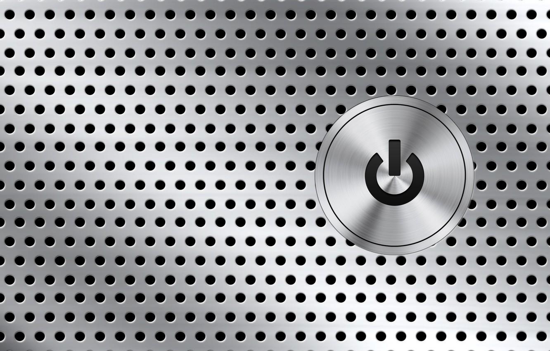 Photo wallpaper metal, button, holes