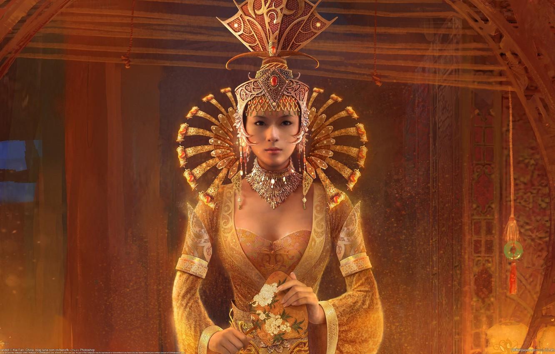 Photo wallpaper girl, Princess, Kai Fan