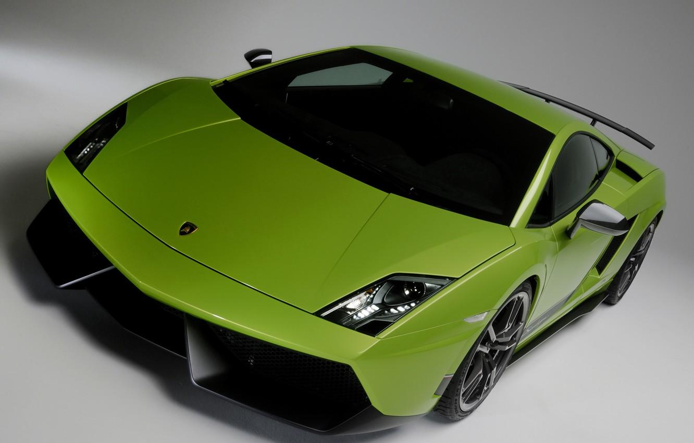 Photo wallpaper car, green, Lamborghini, Superleggera, Gallardo, front, LP570-4