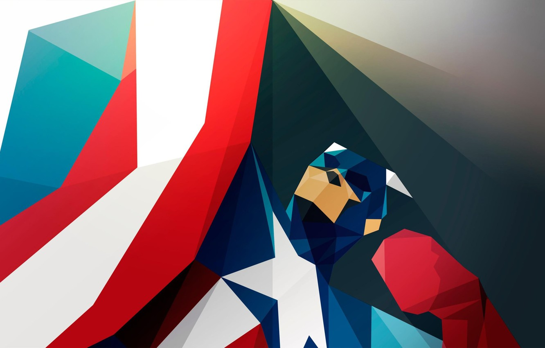 Photo wallpaper art, captain, America, superhero, art, america, captain, superhero