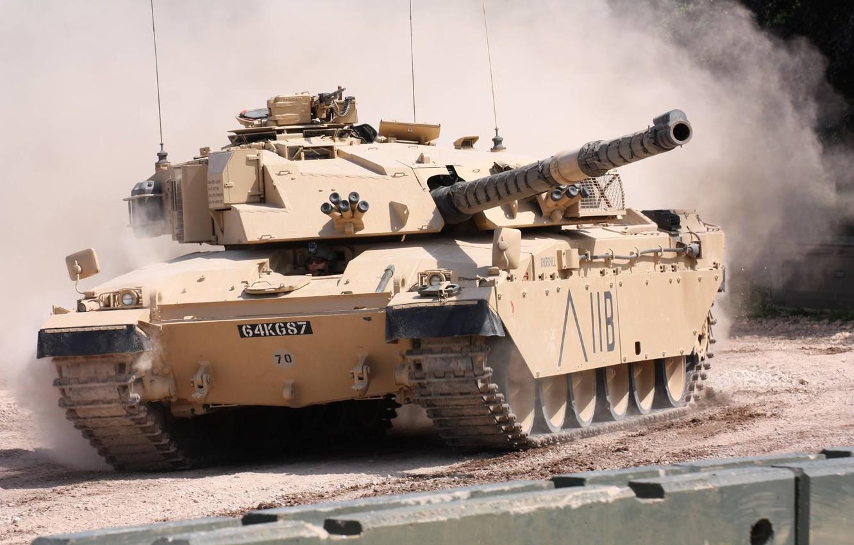 Photo wallpaper dust, tank, Challenger, British, rides, Challenger, FV4030/4, main battle, 1980-ies