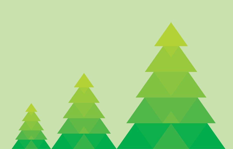 Photo wallpaper background, tree, minimalism, green