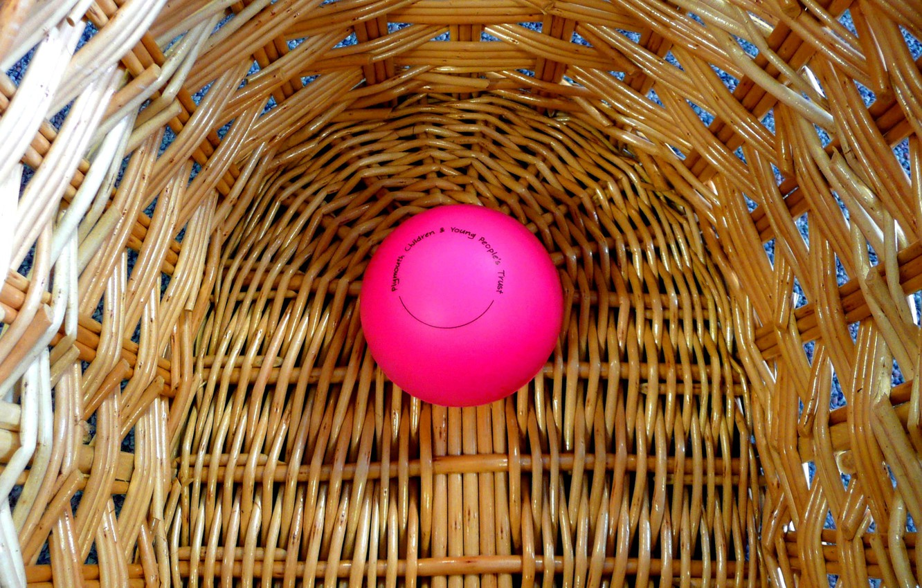 Photo wallpaper basket, the ball, rods