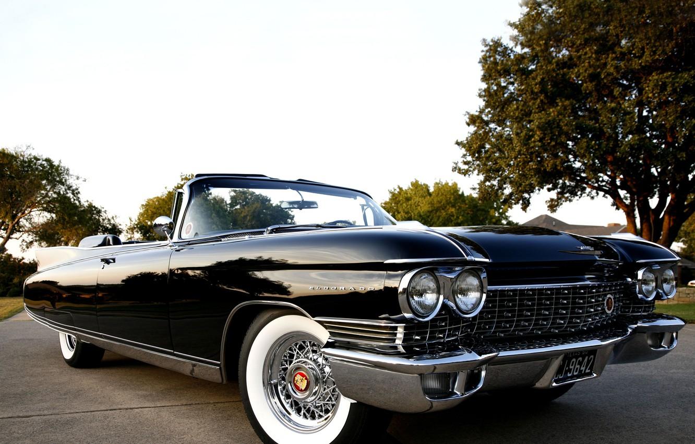 Photo wallpaper retro, Eldorado, Cadillac, convertible, classic, chrome, Cadillac, Convertible