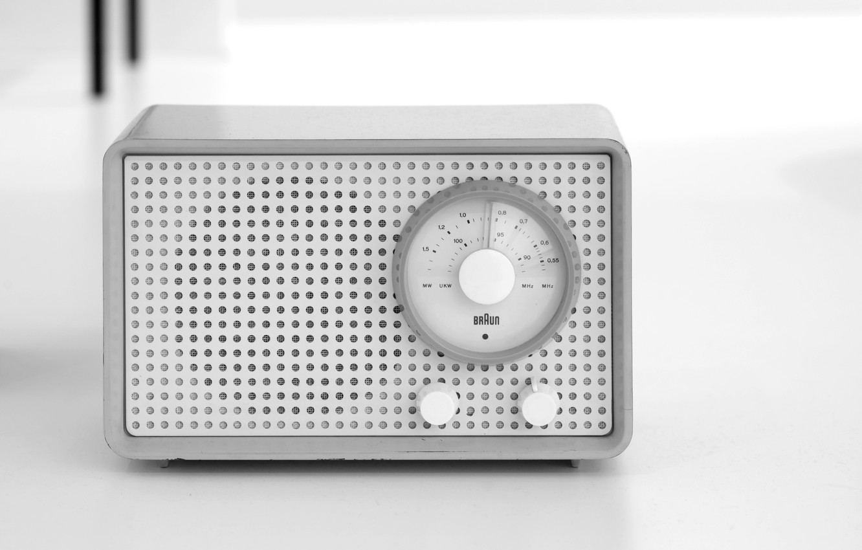 Photo wallpaper radio, receiver, Braun