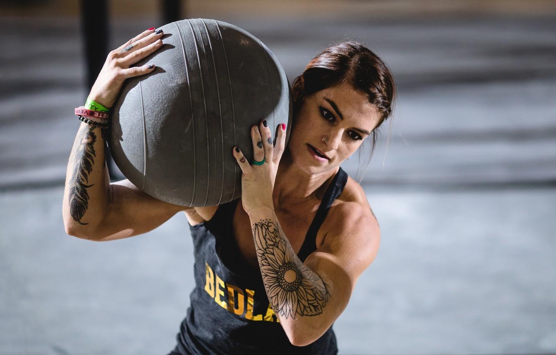 Photo wallpaper ball, tattoos, weight, crossfit, technique