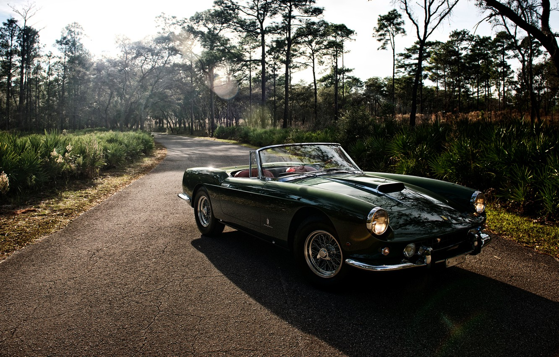 Photo wallpaper Ferrari, Ferrari, Cabriolet, 400, 1961, SWB, Superamerica